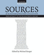 Sources for the History of Western Civilization, Volume I