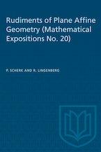 Rudiments of Plane Affine Geometry
