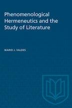Phenomenological Hermeneutics and the Study of Literature