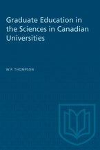 Graduate Education in the Sciences in Canadian Universities